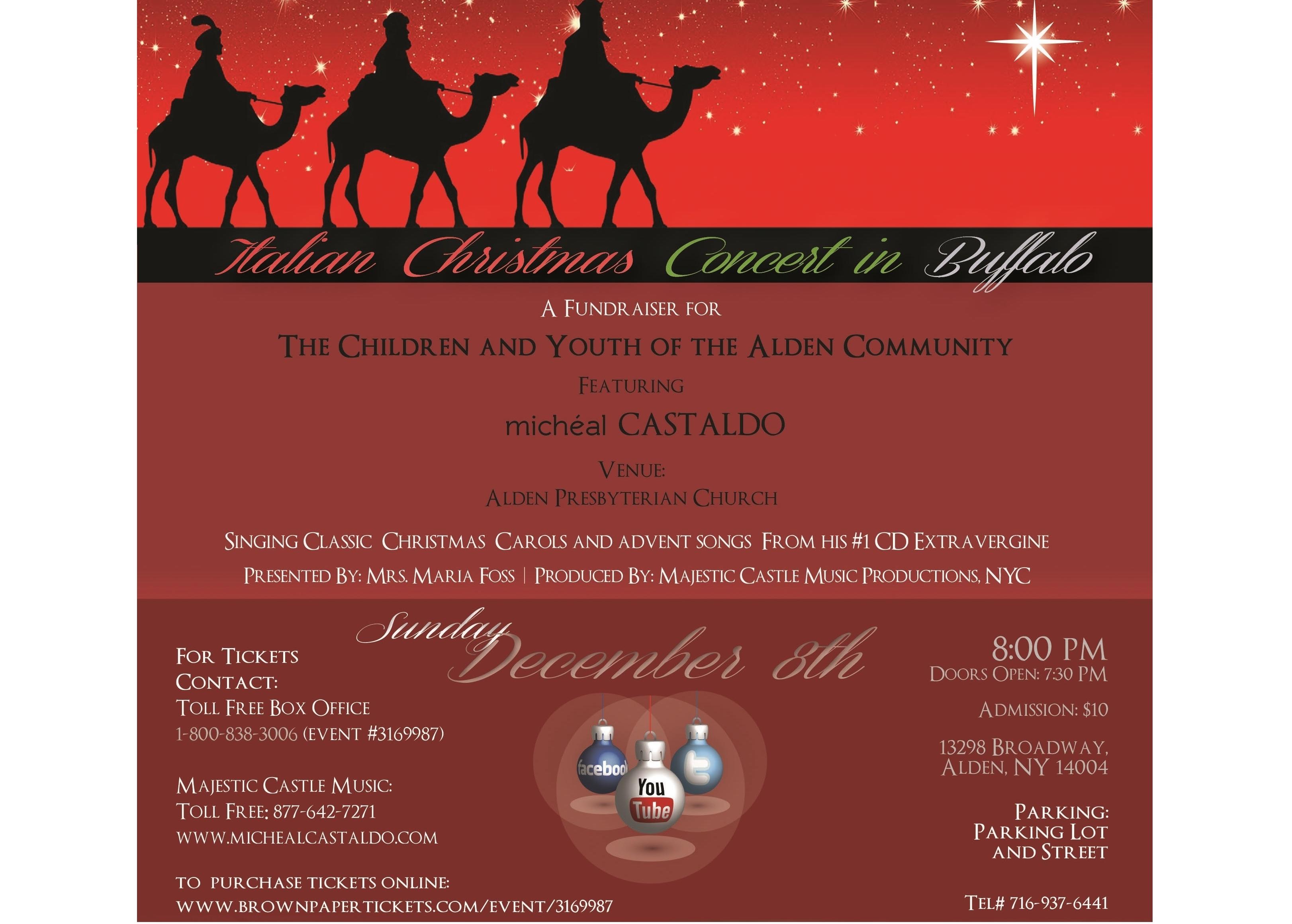 we the italians award winning italian tenor michal castaldo and friends to perform italian christmas concert in buffalo - Italian Christmas Music