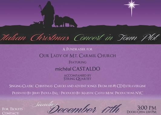 we the italians award winning italian tenor michal castaldo and friends to perform italian christmas concert in town plot - Italian Christmas Music